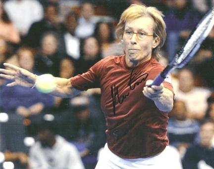 "Martina Navratillova ""Swinging"" Autographed Tennis 8"" x 10"" Photograph (Unframed)"