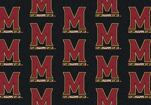 "Maryland Terrapins 3' 10"" x 5' 4"" Team Repeat Area Rug"