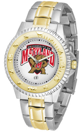 Maryland Terrapins Competitor Two Tone Watch