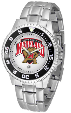Maryland Terrapins Competitor Watch with a Metal Band