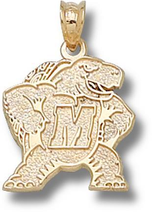 "Maryland Terrapins New ""Terrapin M"" Lapel Pin - 10KT Gold Jewelry"