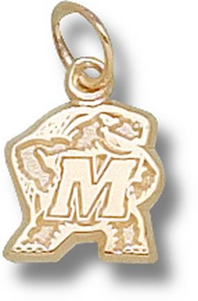 "Maryland Terrapins ""Terrapin"" 3/8"" Charm - 14KT Gold Jewelry"
