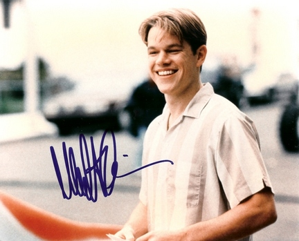 "Matt Damon Autographed 8"" x 10"" Photograph (Unframed)"