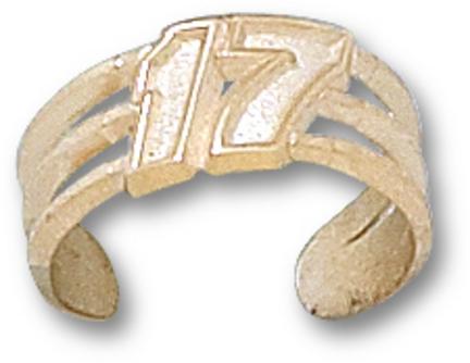 "Matt Kenseth Driver Number ""17"" Toe Ring - 10KT Gold Jewelry"
