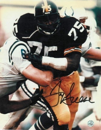 "Mean Joe Greene Pittsburgh Steelers Autographed 8"" x 10"" ""Vs. Baltimore Colts"" Unframed Photograph"