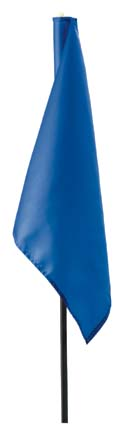 Medium Blue 400 Denier Nylon Flags from Standard Golf - Set of 9