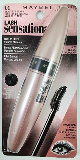 Merchandise 7574932 Maybelline New York Lash Sensational Mascara Blackest Black 0.32 fl oz