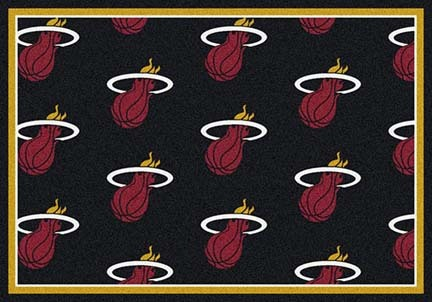 "Miami Heat 2' 1"" x 7' 8"" Team Repeat Area Rug Runner"