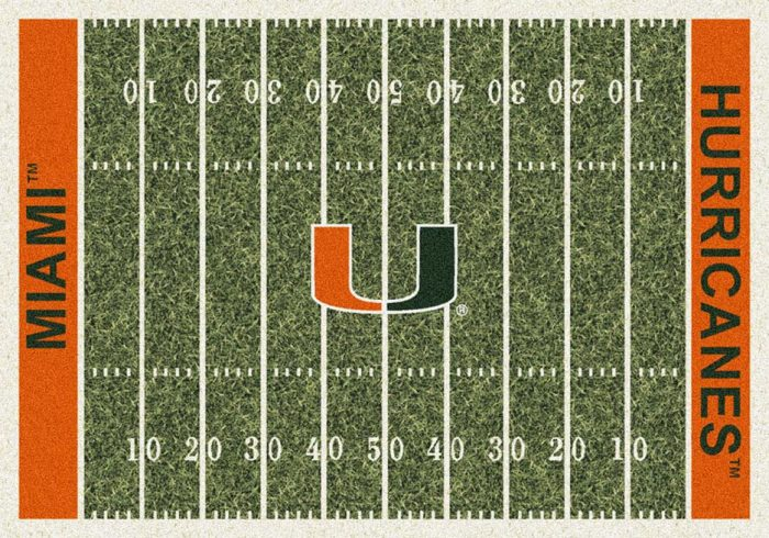"Miami Hurricanes 3' 10"" x 5' 4"" Home Field Area Rug"