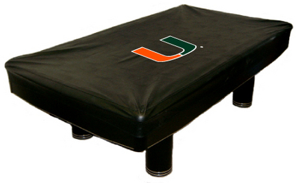 Miami Hurricanes MVP Universal Fit Billiard Table Cover