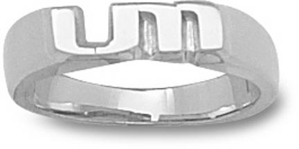 """Miami Hurricanes """"UM"""" Ladies' Ring Size 6 1/2 - Sterling Silver Jewelry"""