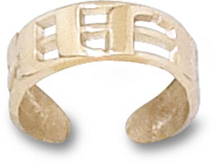 "Miami Hurricanes ""UM"" Toe Ring - 10KT Gold Jewelry"