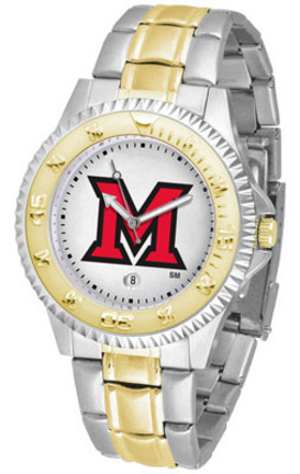 Miami (Ohio) RedHawks Competitor Two Tone Watch