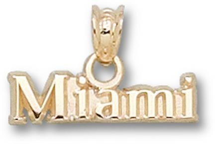 "Miami (Ohio) RedHawks ""Miami"" Pendant - 14KT Gold Jewelry"