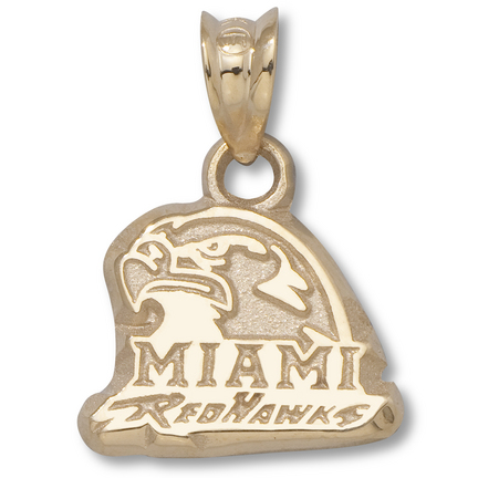 "Miami (Ohio) RedHawks ""Miami RedHawks"" Hawk Head Pendant - 10KT Gold Jewelry"