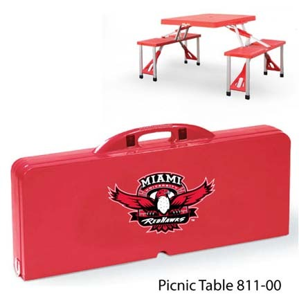 Miami (Ohio) RedHawks Portable Folding Table and Seats