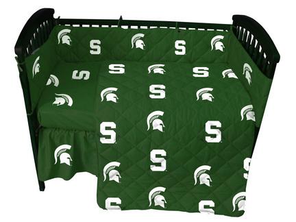 Michigan State Spartans 5 Piece Baby Crib Set