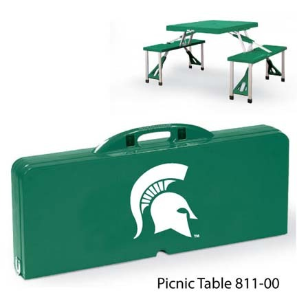 Michigan State Spartans Portable Folding Table and Seats