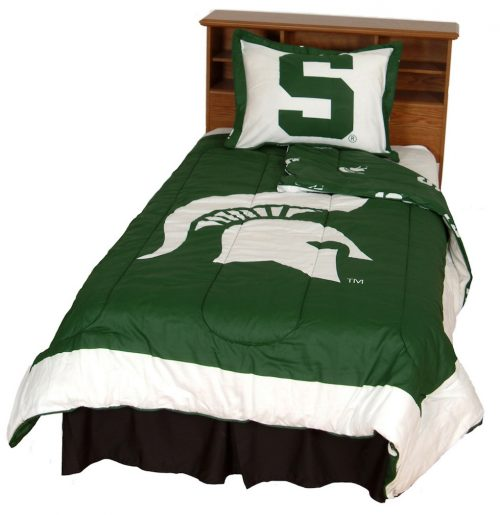 Michigan State Spartans Reversible Comforter Set (Full)