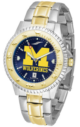 Michigan Wolverines Competitor AnoChrome Two Tone Watch