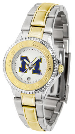 Michigan Wolverines Competitor Ladies Watch with Two-Tone Band