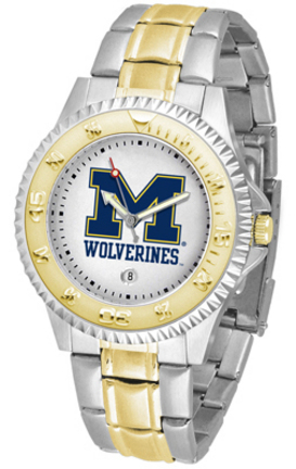 Michigan Wolverines Competitor Two Tone Watch