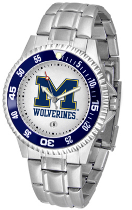 Michigan Wolverines Competitor Watch with a Metal Band