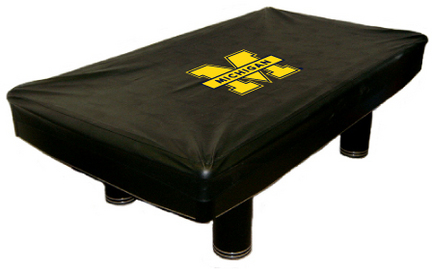 Michigan Wolverines MVP Universal Fit Billiard Table Cover