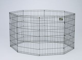 Midwest Container 8 Panel Exercise Pen Black 24x36 Inch - 554-36