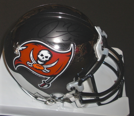 Mike Alstott Autographed Tampa Bay Bucs Chrome Mini Helmet (Unframed)