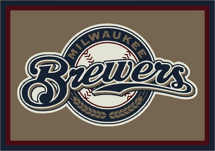 "Milwaukee Brewers 3'10"" x 5'4"" Team Spirit Area Rug"