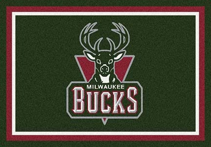 "Milwaukee Bucks 3' 10"" x 5' 4"" Team Spirit Area Rug"