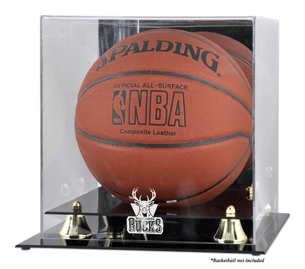 Milwaukee Bucks Golden Classic Logo Basketball Display Case