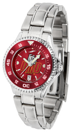 Minnesota (Duluth) Bulldogs Competitor AnoChrome Ladies Watch with Steel Band and Colored Bezel