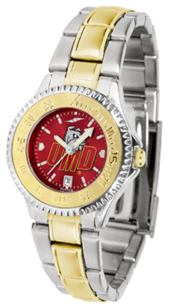 Minnesota (Duluth) Bulldogs Competitor AnoChrome Ladies Watch with Two-Tone Band
