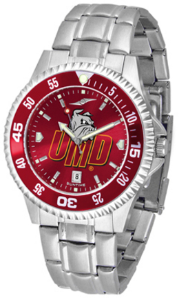 Minnesota (Duluth) Bulldogs Competitor AnoChrome Men's Watch with Steel Band and Colored Bezel