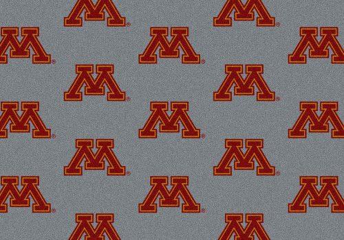 "Minnesota Golden Gophers 3' 10"" x 5' 4"" Team Repeat Area Rug"