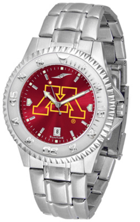 Minnesota Golden Gophers Competitor AnoChrome Men's Watch with Steel Band