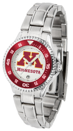 Minnesota Golden Gophers Competitor Ladies Watch with Steel Band