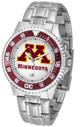 Minnesota Golden Gophers Competitor Watch with a Metal Band