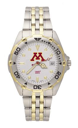 Minnesota Golden Gophers NCAA Men's All Star Watch with Stainless Steel Bracelet