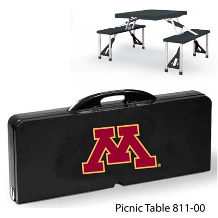 Minnesota Golden Gophers Portable Folding Table and Seats