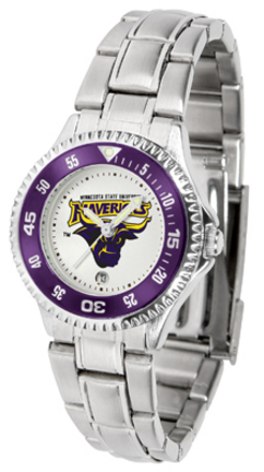 Minnesota State-Mankato Mavericks Competitor Ladies Watch with Steel Band