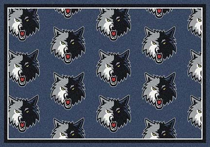 "Minnesota Timberwolves 2' 1"" x 7' 8"" Team Repeat Area Rug Runner"