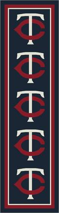 "Minnesota Twins 2' 1"" x 7' 8"" Team Repeat Area Rug Runner"