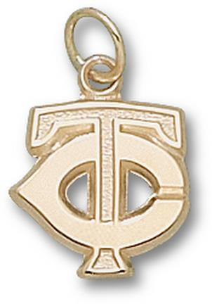 "Minnesota Twins ""TC"" 1/2"" Charm - 10KT Gold Jewelry"