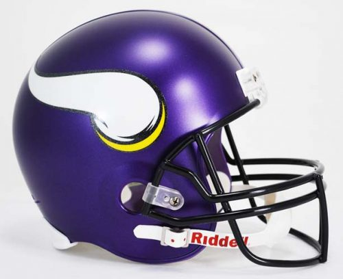 "Minnesota Vikings ""2013 - CURRENT"" NFL Riddell Full Size Deluxe Replica Football Helmet"