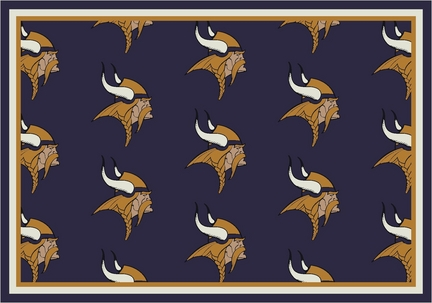"Minnesota Vikings 3' 10"" x 5' 4"" Team Repeat Area Rug (Purple)"