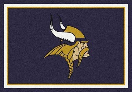 """Minnesota Vikings 3' 10"""" x 5' 4"""" Team Spirit Area Rug (Purple)"""
