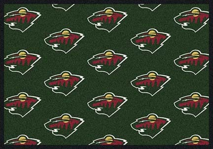 "Minnesota Wild 2' 1"" x 7' 8"" Team Repeat Area Rug Runner"
